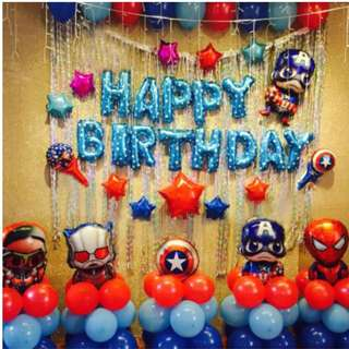 (In stock)Super Hero Party Decoration Set-Happy Birthday