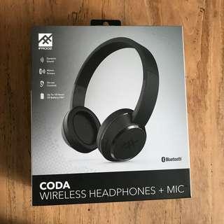 IFrogz CODA Wireless Headphones + Mic - Authentic and Brand New