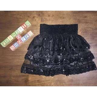 Sequins Black Skirt