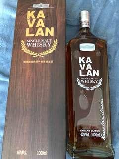 Kavalan single malt whisky 1000ml