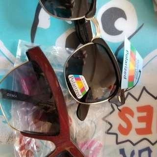 黑色宝丽來太陽鏡及另一意大利品牌太陽镜