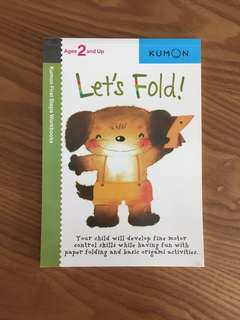 Brand new Kumon First Steps Workbooks Let's Fold!