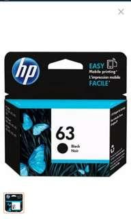 HP printer ink cartridge 63