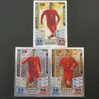 2014 Match Attax World Cup Limited Edition 金銀銅全套 - Cristiano RONALDO #Portugal