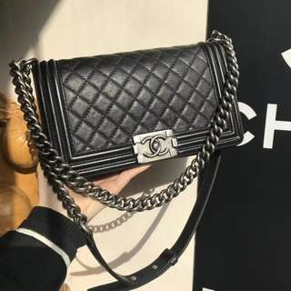 Chanel Calfskin Medium Boy Flap