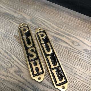 Gold Metal Door Sign