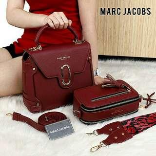 Marc Jacobs Marini Bag Premium (Maroon/Pink)