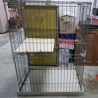 2 Tier Cat Cage