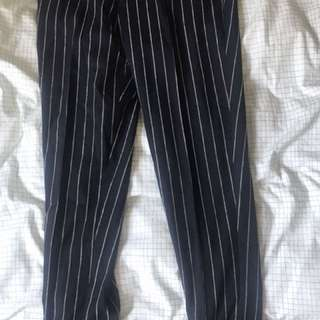 striped asos ankle pants