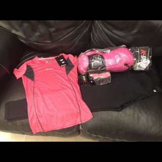 K-Sport Pink Boxing Gloves, Handwrap, Top & Pants