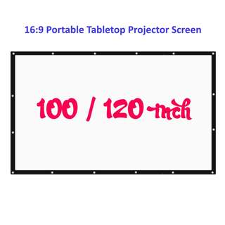 💯 100 / 120 inch 16:9 Portable Tabletop Projector Screen