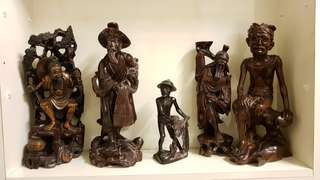 Wood Carving Four Pieces