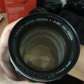 Canon 50mm 0.95 Dream Lens (M mount)