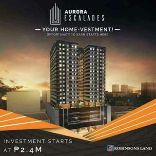 NEWLY Launched Condo in Q.C Aurora Cubao near Gateway Mall developed by Robinsons Land