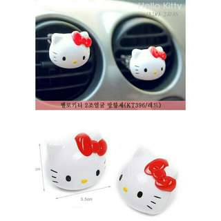 *FREE DELIVERY to WM only / Pre order 15-18 days* Hello kitty car accessories perfume tuyere solid set each as shown design/color red, pink, purple. Free delivery is applied for this item.