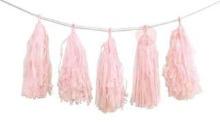 Paper tassels- light pink