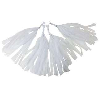 Paper tassels- white