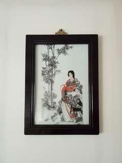 Olden porcelain plaque frame size 44x33cm perfect condition