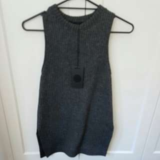 Bassike dark grey marl tank top