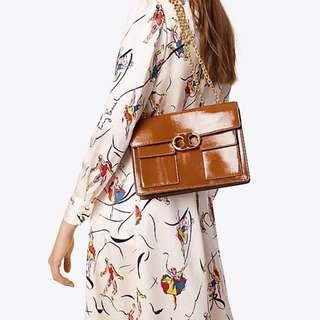 Tory Burch Gemini Link Chain Medium Shoulder Bag