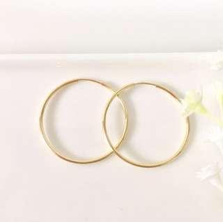 14K Gold Filled Hoop Earrings - 3cm