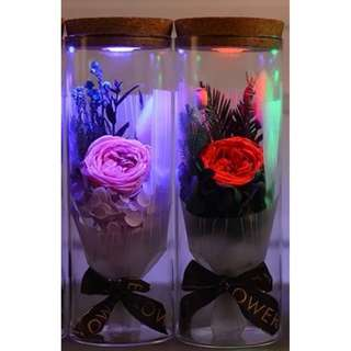 Led Colour with Remote Glass Flower