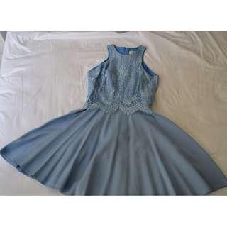 Lover blue skater dress