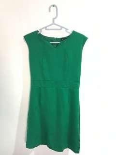 Green Straight-cut Dress