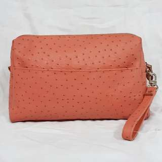 OSTRICH GENUINE LEATHER CLUTCH