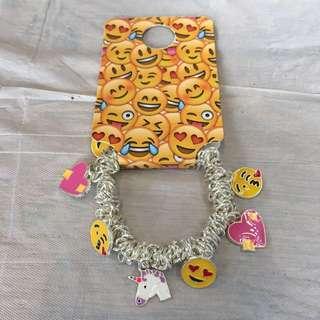 Primark cute emoji unicorn heart bracelet