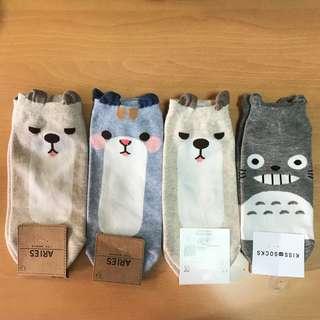 Korean Animal & Totoro Socks
