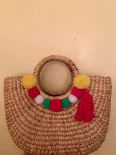 Summer bag With Pom poms