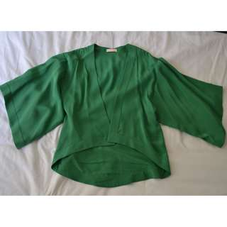 sass & bide green kimono jacket