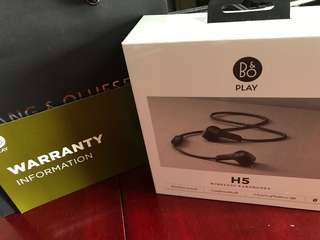 Bang & Olufsen H5 wireless earphones *BNIB*