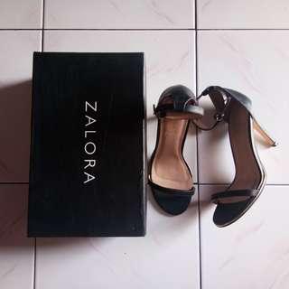 Zalora strap heels black