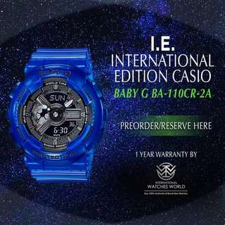 CASIO INTERNATIONAL EDITION BABY G AQUA PLANET BA110CR-2/ BA110CR-4/ BA110CR-7