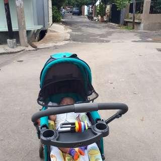 Stroller pliko grande warna hijau