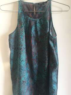 Beautiful green top animal print size S