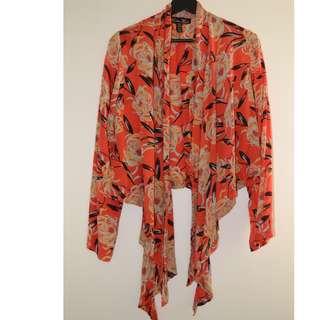 Winter Kate red floral kimono jacket