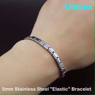 """Stainless Steel """"Elastic"""" Bracelet [Unisex Wristbands bangles customised to wrist size gifts presents uncle.anthony uncle anthony uac ] FOR MORE PHOTOS & DETAILS, GO HERE: 👉 http://carousell.com/p/149972761"""