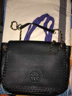 Tory Burch Marion shoulder bag 黑色真皮