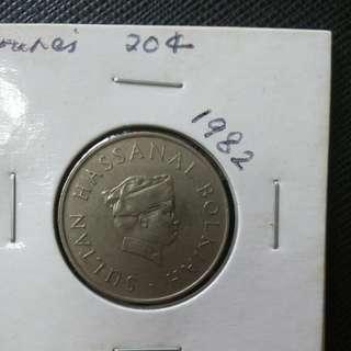 1982 Brunei 20¢