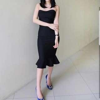 Peplum Basic Dress