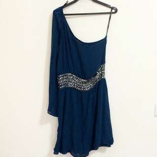 Warehouse One Shoulder Party Dress