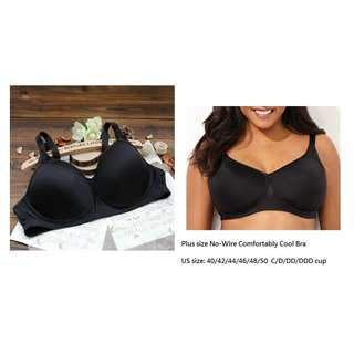 Pre-Order Plus size No-Wire Comfortably Cool Bra US size 40-48 C/D/DD/DDD cup