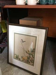 Bird painting vintage