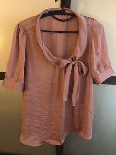 Zara Old Rose blouse M-L