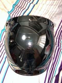 Full chrome 3 button visor