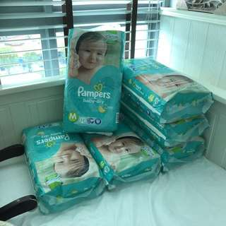 Pampers baby-dry diapers (tapes) size M 52pcs