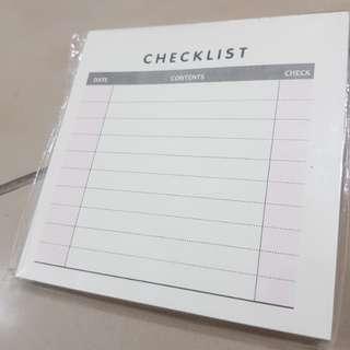 Checklist Sticky Note pad